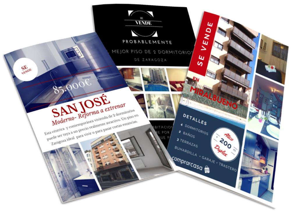 flyers de publicidad de propiedades